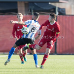 24-02-2018: Voetbal: Jong Almere City v Quick Boys: Almere (L-R) Mohamad Mahmoed (Quick Boys), Sam Krant (Jong Almere City FC) 3de divisie zaterdag 2017 / 2018