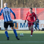 24-02-2018: Voetbal: Jong Almere City v Quick Boys: Almere (L-R) Jesse van Nieuwkerk (Quick Boys),  Faris Hammouti (Jong Almere City FC) 3de divisie zaterdag 2017 / 2018