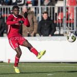 24-02-2018: Voetbal: Jong Almere City v Quick Boys: Almere Devechio Blackson (Jong Almere City FC) 3de divisie zaterdag 2017 / 2018