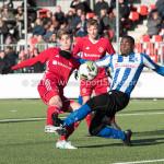 24-02-2018: Voetbal: Jong Almere City v Quick Boys: Almere (L-R) Jelle Goselink (Jong Almere City FC), Kelvin Maynard (Quick Boys) 3de divisie zaterdag 2017 / 2018