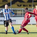 24-02-2018: Voetbal: Jong Almere City v Quick Boys: Almere (L-R) Jesse van Nieuwkerk (Quick Boys), Sam Krant (Jong Almere City FC) 3de divisie zaterdag 2017 / 2018