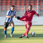 24-02-2018: Voetbal: Jong Almere City v Quick Boys: Almere (L-R) Mohamad Mahmoed (Quick Boys), Achille Vaarnold (Jong Almere City FC) 3de divisie zaterdag 2017 / 2018