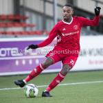24-02-2018: Voetbal: Jong Almere City v Quick Boys: Almere Achille Vaarnold (Jong Almere City FC) 3de divisie zaterdag 2017 / 2018