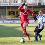 24-02-2018: Voetbal: Jong Almere City v Quick Boys: Almere (L-R) Nicky van Hilten (Jong Almere City FC), Joey Ravensbergen (Quick Boys) 3de divisie zaterdag 2017 / 2018