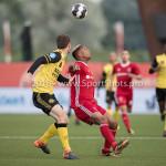 10-05-2018: Voetbal: Almere City FC v Roda JC: Almere (L-R) Patrick Banggaard (Roda JC), Sherjill Mac-Donalds (Almere City FC) Jupiler League halve finale play-offs 2017 / 2018h