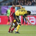 10-05-2018: Voetbal: Almere City FC v Roda JC: Almere (L-R) Jerge Hoefdraad (Almere City FC), Ognjen Gnjatic (Roda JC) Jupiler League halve finale play-offs 2017 / 2018