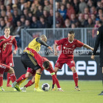 10-05-2018: Voetbal: Almere City FC v Roda JC: Almere (L-R) Javier Vet (Almere City FC), Dani Schahin (Roda JC), Tom Overtoom (Almere City FC), Gaston Salasiwa (Almere City FC) Jupiler League halve finale play-offs 2017 / 2018