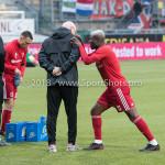 13-05-2018: Voetbal: Roda JC v Almere City FC: Kerkrade /r Sjouke Tel - Loop & hersteltrainer (Almere City FC), Leeroy Owusu (Almere City FC) Jupiler League halve finale play-offs 2017 / 2018
