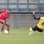 13-05-2018: Voetbal: Roda JC v Almere City FC: Kerkrade (L-R) Jerge Hoefdraad (Almere City FC), Christian Kum (Roda JC) Jupiler League halve finale play-offs 2017 / 2018