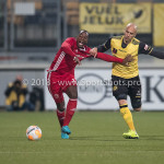 13-05-2018: Voetbal: Roda JC v Almere City FC: Kerkrade (L-R) Calvin Mac Intosch (Almere City FC), Dani Schahin (Roda JC) Jupiler League halve finale play-offs 2017 / 2018