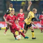 13-05-2018: Voetbal: Roda JC v Almere City FC: Kerkrade (L-R) Silvester van de Water (Almere City FC), Simon Gustafson (Roda JC) Jupiler League halve finale play-offs 2017 / 2018