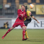 13-05-2018: Voetbal: Roda JC v Almere City FC: Kerkrade (L-R) Nicky van Hilten (Almere City FC), Jannes Vansteenkiste (Roda JC) Jupiler League halve finale play-offs 2017 / 2018