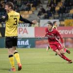 13-05-2018: Voetbal: Roda JC v Almere City FC: Kerkrade (L-R) Patrick Banggaard (Roda JC), Faris Hammouti (Almere City FC) 1-2 Jupiler League halve finale play-offs 2017 / 2018