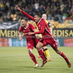 13-05-2018: Voetbal: Roda JC v Almere City FC: Kerkrade (L-R) Gaston Salasiwa (Almere City FC), Faris Hammouti (Almere City FC) 11-2 Jupiler League halve finale play-offs 2017 / 2018