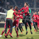 13-05-2018: Voetbal: Roda JC v Almere City FC: Kerkrade Almere City FC Celebrating 1-2 Jupiler League halve finale play-offs 2017 / 2018