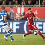 17-05-2018: Voetbal: Almere City FC v De Graafschap: Almere (L-R) Mark Diemers (De Graafschap), Gaston Salasiwa (Almere City FC) Jupiler League finale play-offs 2017 / 2018