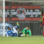 17-05-2018: Voetbal: Almere City FC v De Graafschap: Almere (L-R) Youssef El Jebli (De Graafschap), goalkeeper Chiel Kramer (Almere City FC) Jupiler League finale play-offs 2017 / 2018