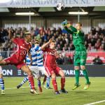 17-05-2018: Voetbal: Almere City FC v De Graafschap: Almere (L-R) Sherjill Mac-Donalds (Almere City FC), lam14, goalkeeper Filip Bednarek (De Graafschap) Jupiler League finale play-offs 2017 / 2018