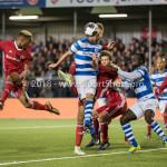 17-05-2018: Voetbal: Almere City FC v De Graafschap: Almere (L-R) Sherjill Mac-Donalds (Almere City FC), Fabian Serrarens (De Graafschap) Jupiler League finale play-offs 2017 / 2018