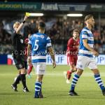 17-05-2018: Voetbal: Almere City FC v De Graafschap: Almere (L-R) Kevin Blom (Scheidsrechter), Jordy Tutuarima (De Graafschap), Fabian Serrarens (De Graafschap) geel Jupiler League finale play-offs 2017 / 2018