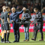 17-05-2018: Voetbal: Almere City FC v De Graafschap: Almere (L-R) Kevin Blom (Scheidsrechter) , Jack de Gier - Technisch manager/Hoofdtrainer (Almere City FC) Jupiler League finale play-offs 2017 / 2018