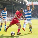20-05-2018: Voetbal: De Graafschap v Almere City FC: Doetinchem (L-R) Jerge Hoefdraad (Almere City FC), Robert Klaasen (De Graafschap) Jupiler League finale play-offs 2017 / 2018