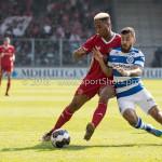 20-05-2018: Voetbal: De Graafschap v Almere City FC: Doetinchem (L-R) Sherjill Mac-Donalds (Almere City FC), Jordy Tutuarima (De Graafschap) Jupiler League finale play-offs 2017 / 2018
