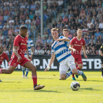 20-05-2018: Voetbal: De Graafschap v Almere City FC: Doetinchem (L-R) Jerge Hoefdraad (Almere City FC)  0-1, Lars Nieuwpoort (De Graafschap)  Jupiler League finale play-offs 2017 / 2018