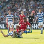 20-05-2018: Voetbal: De Graafschap v Almere City FC: Doetinchem (L-R) Lars Nieuwpoort (De Graafschap), Jerge Hoefdraad (Almere City FC) 0-1 Jupiler League finale play-offs 2017 / 2018