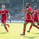 20-05-2018: Voetbal: De Graafschap v Almere City FC: Doetinchem (L-R) Javier Vet (Almere City FC), Jerge Hoefdraad (Almere City FC) 0-1 , Achille Vaarnold (Almere City FC) Jupiler League finale play-offs 2017 / 2018