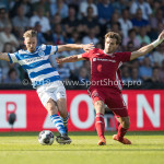 20-05-2018: Voetbal: De Graafschap v Almere City FC: Doetinchem (L-R) Fabian Serrarens (De Graafschap),Javier Vet (Almere City FC) Jupiler League finale play-offs 2017 / 2018