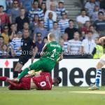 20-05-2018: Voetbal: De Graafschap v Almere City FC: Doetinchem (L-R) Dennis van der Heijden (Almere City FC), goalkeeper Filip Bednarek (De Graafschap) Jupiler League finale play-offs 2017 / 2018